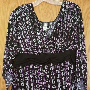Multi colored blouse 3X